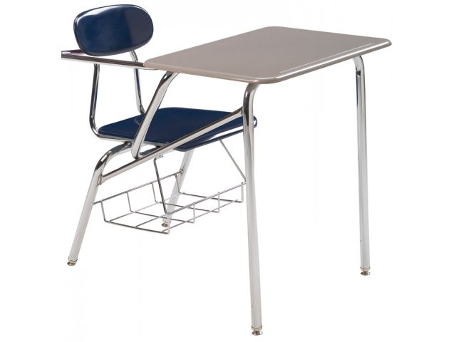 Combo Student Chair Desk   Hard Plastic, Support Brace ...