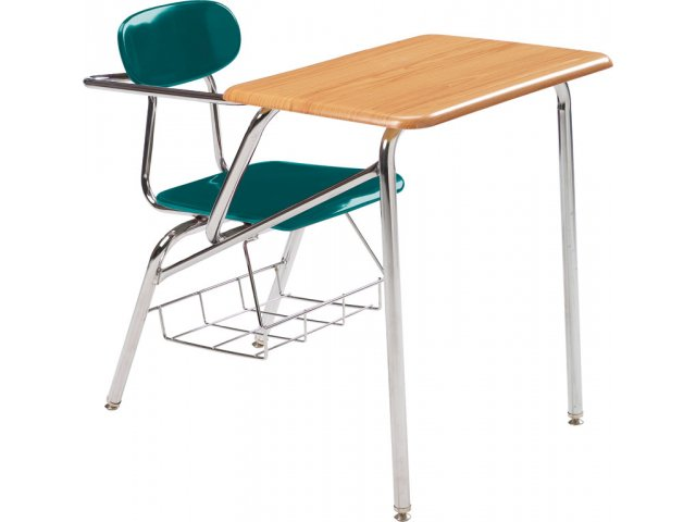 combo student chair desk woodstone top  support brace 18