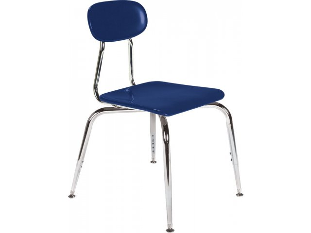"Blue School Chair adjustable hard plastic stackable school chair 12.5-15.5""h"