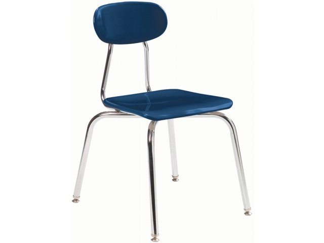 "Blue School Chair hard plastic stackable school chair 15.75""h, classroom chairs"