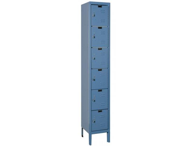 6 Tier Locker 1 Wide Assembled 12 Wx12 Hx12 D Openings School Lockers