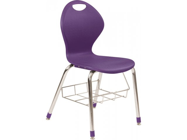 "Inspiration Poly Classroom Chair with Bookrack 19""H"