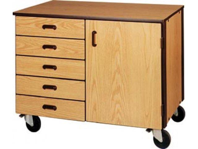 Mobile Storage Cabinet 5 Drawers 1 Adj Shelf 36 H Irw 1018 C