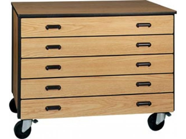 """Mobile Office Storage Unit with 5 Deep Drawers, 36"""" H IRW ..."""