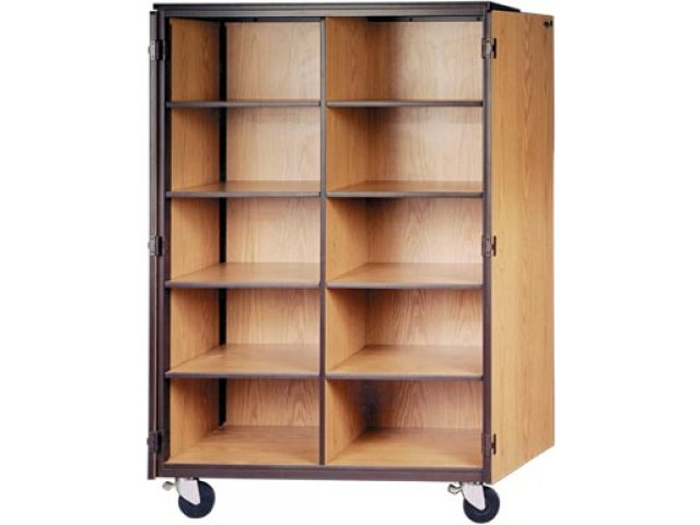 Cubby Storage Cabinet 10 Adj Shelves Locking Doors 72 Quot H