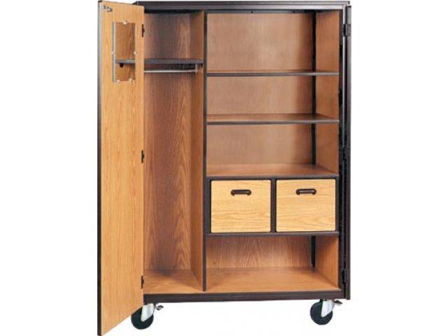 Mobile Wardrobe Storage Closet - 2 Shelves 2 Drawers 66  sc 1 st  Hertz Furniture & Mobile Wardrobe Storage Closet - 2 Shelves 2 Drawers 66
