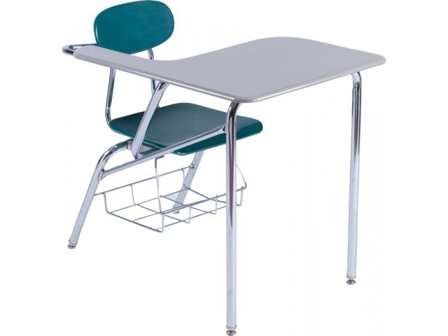 Student Chair Desk Hard Plastic Jumbo Top
