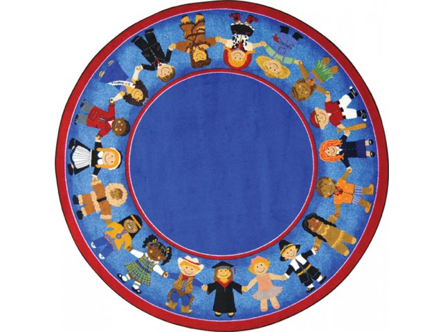 Children of many cultures round rug 13 39 2 multicultural rugs for Round rugs for kids
