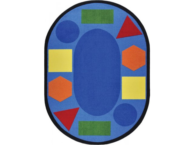 Sitting Shapes Oval Classroom Rug 5 4 Quot X7 8 Quot Shapes