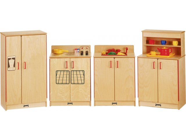 Jnt Wooden Play Kitchen Set 4 Appliances Jtc 2030 Dramatic Play Furniture