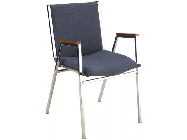 Elegant XL Vinyl Stacking Arm Chair