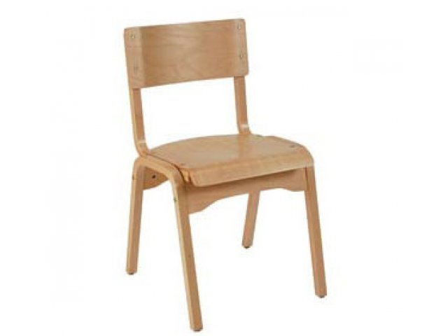 Educational Edge Natural Wood School Chair 18 H Library Chairs