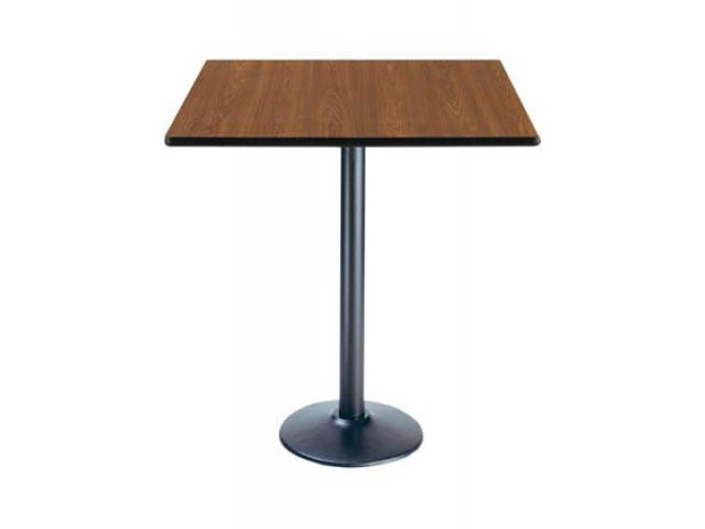Deluxe Square Bar Height Cafe Table   Round Base