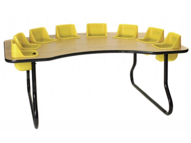 eight seater kidney shaped toddler table ktt 117t