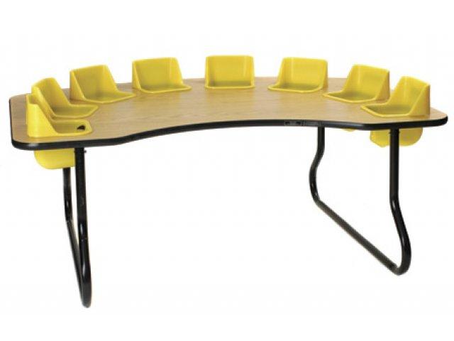 Eight Seater Kidney-Shaped Toddler Table KTT-117T ...