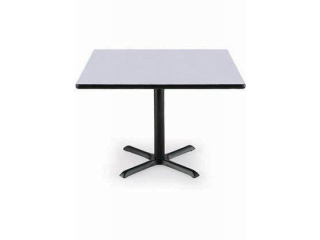 Deluxe Square Cafe Table With X Base