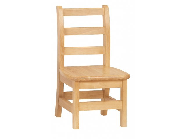 Ladderback Wooden School Library Chair 10 H Preschool Chairs