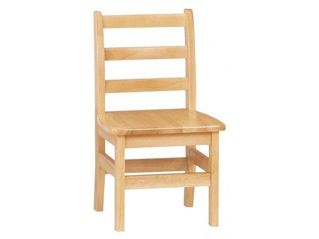 "Ladderback Wooden School Library Chair 12""H, Preschool Chairs"