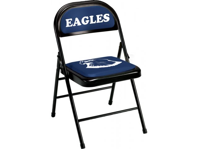 "Padded Sideline Folding Chair 1"" Seat LGO 704 01 Folding Chairs"