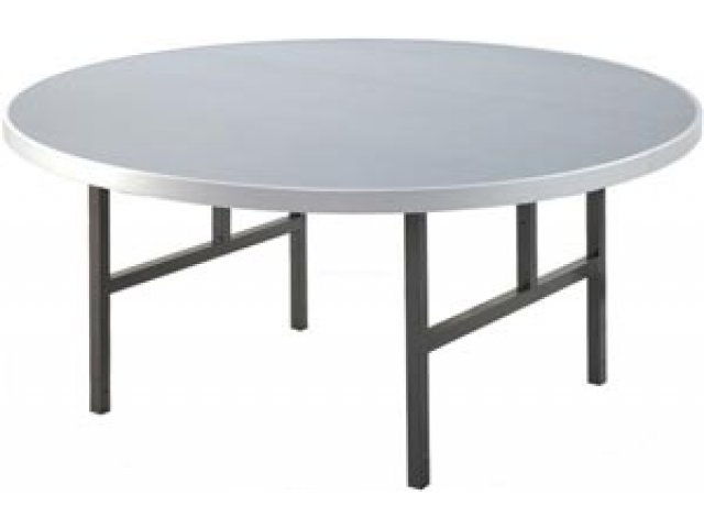 Aluminum Round Folding Table with H Legs 72 Folding Tables