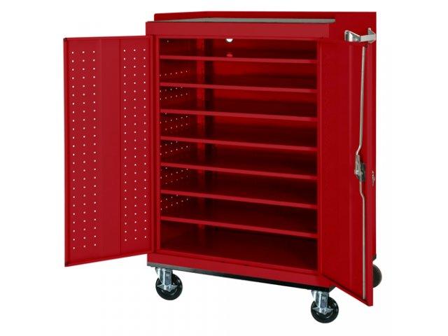 Portable Storage Carts : Mobile laptop charging storage cart capacity