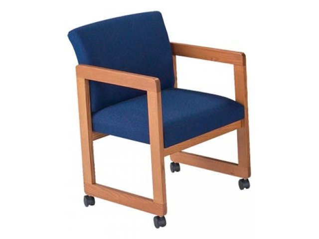 Armchair With Casters: Classic Arm Chair With Casters