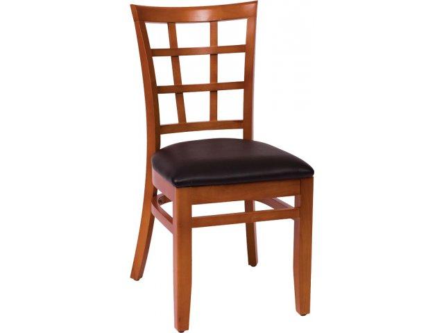 Pennington Wooden Library Chair   Vinyl Seat