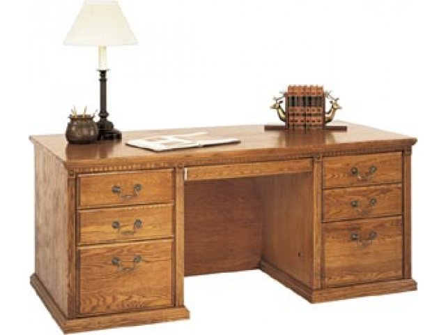 Americana Double Pedestal Office Desk Mac 680 Office Desks