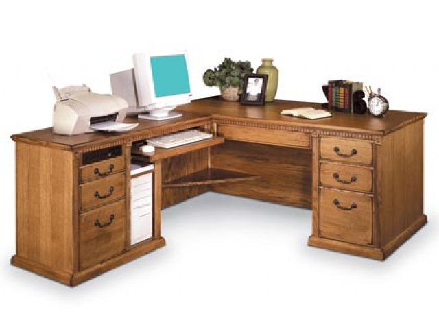 americana l shaped office desk w left return mac 684l