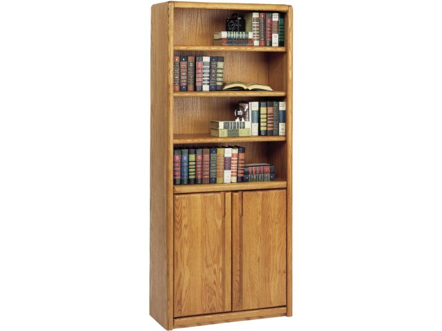 "Contemporary Bookcase with Doors 30""Wx70""H, Office Bookcases"