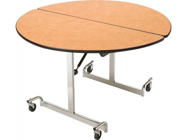 Mobile Round Cafeteria Table Chrome Legs 48 Quot Dia