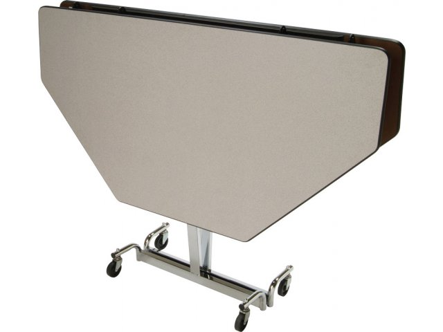 Mit adj height octogon cafeteria table chrome 60x60 for Table 60x60 design