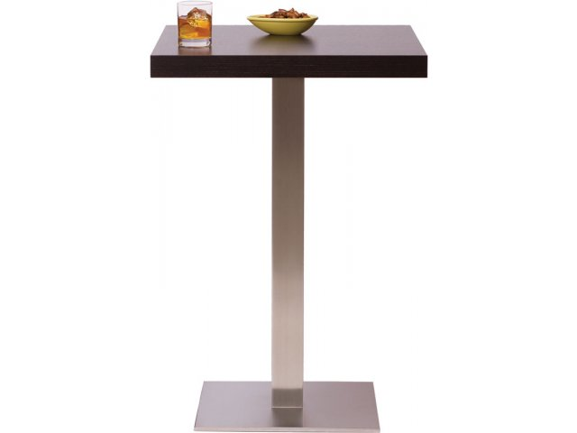 Bar Height Square Cafe Table   Square Steel Base