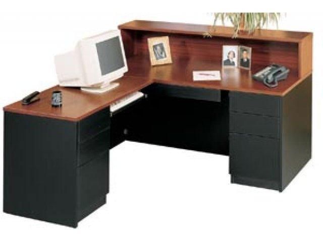 Milan L Shaped Reception Desk Left