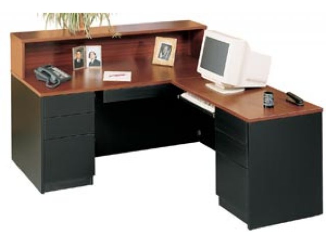 Milan L-Shaped Reception Desk, Right MLN-6672RR, Reception Desks