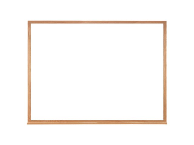 Melamine Whiteboard With Wood Frame 5X4 Wall Mounted