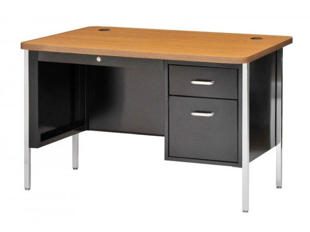 single pedestal metal teachers desk 48 x30 teacher desks