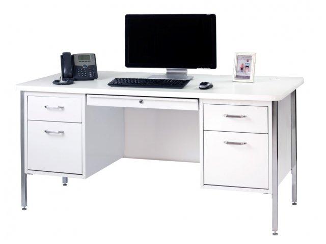 Double Pedestal Metal Teachers Desk 60 Quot X30 Quot Teacher Desks