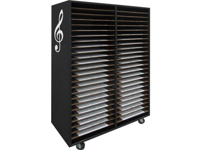 Music Folio Cabinet Mobile Music Folio Cabinet 48 Shelves