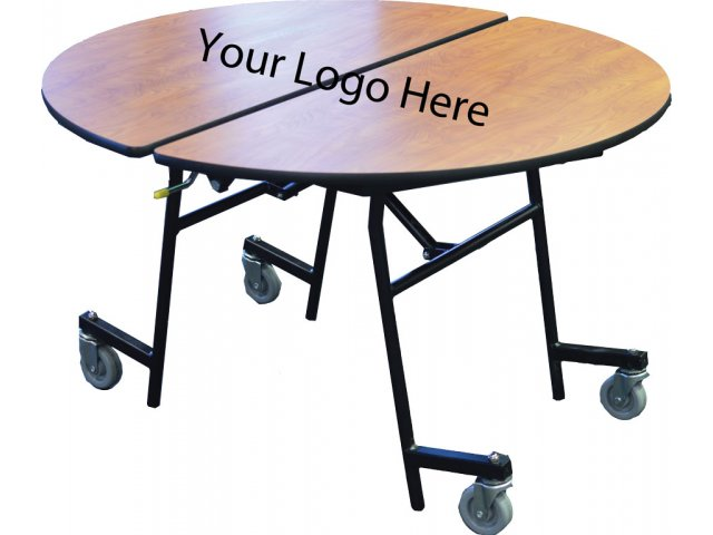 StowAway Folding Round Cafeteria Table 60 dia Folding Tables
