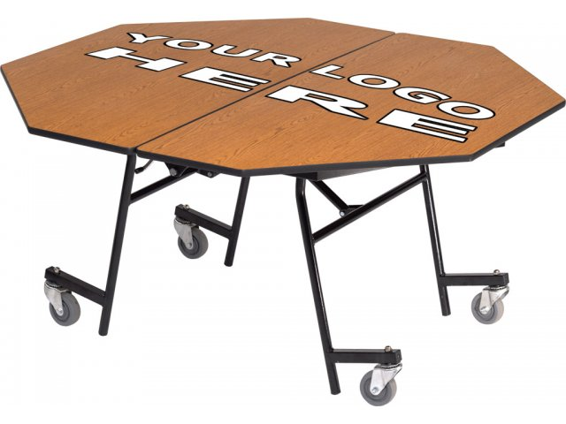 Stow Away Folding Octagon Cafeteria Table