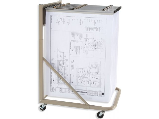 Mobile Blueprint Storage Rack Myl 329h Flat File