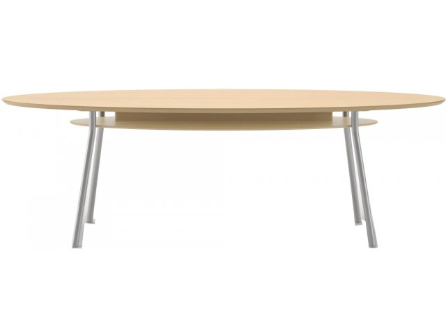 X Elliptical Conference Table With Shelf MYSS Conference - Elliptical conference table