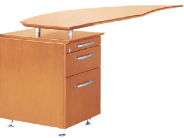 Napoli Curved Office Desk Return Left
