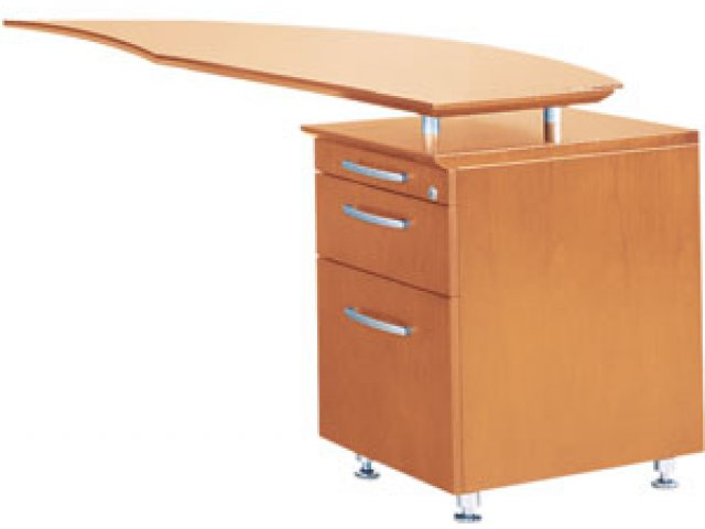 Napoli Curved Office Desk Return Right