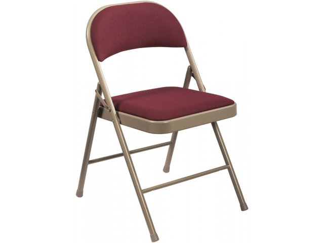 mercialine Fabric Padded Folding Chair NCL 960 Folding Chairs