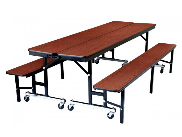 convertible bench cafeteria table - plywood, protectedge 8