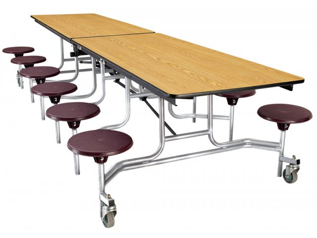 Cafeteria Table Chrome Plywood ProtectEdge 12 Stool 10 39 NPS 202P