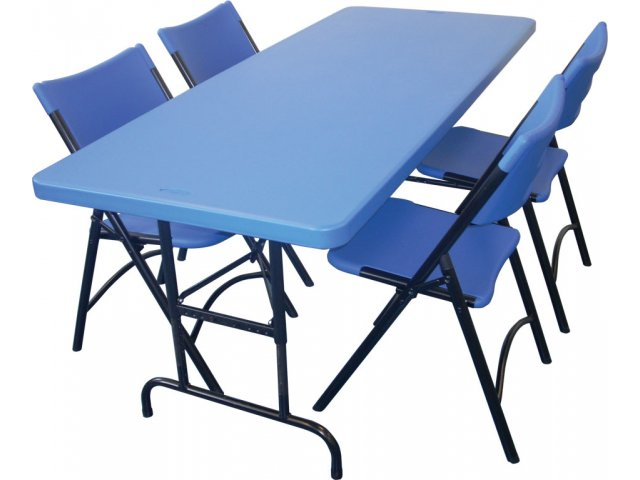 Colored Blow Molded Ht Adjustable Table Amp 4 Chairs Npt
