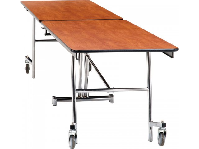 nps folding cafeteria table - mdf, protectedge, chrome 10'l